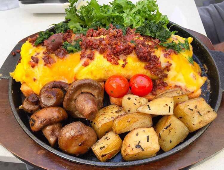 eggs beef cheese